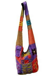 Ethnic patchwork bag