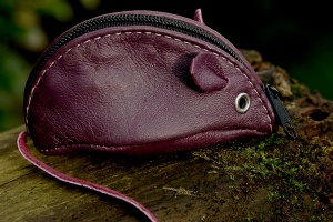 Mauve Mouse Purse