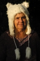 Arctic fox hat with ears and tassels