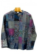 Blue Patchwork lightweight elephant jacket M/L