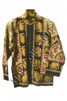 Brown Elephant Print Jacket
