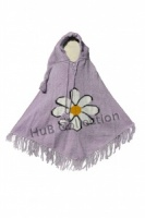 Large Mauve Poncho Hand Crafted  size 14/16