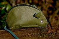 Green Mouse Purse